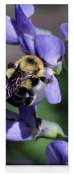 Bumble Bee, Blue Indigo Yoga Mat