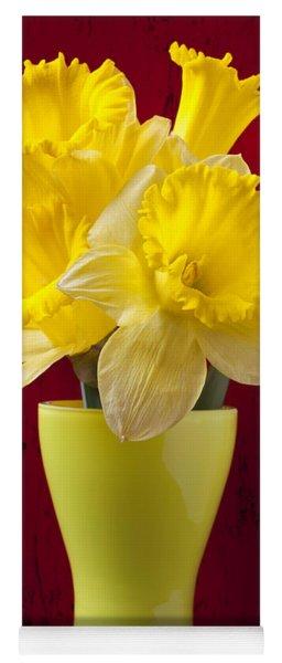 Bunch Of Daffodils Yoga Mat