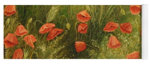Bunch Of Poppies Yoga Mat