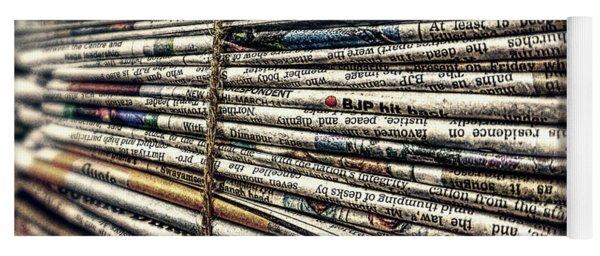 Bundle Of Newspapers Yoga Mat