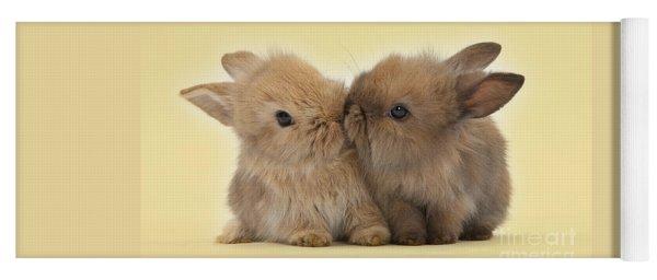 Bunny Kisses Yoga Mat