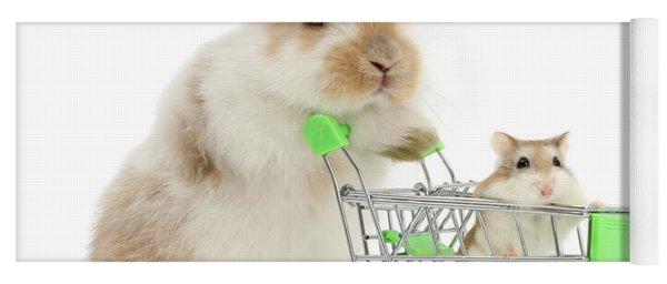 Bunny Shopping Yoga Mat