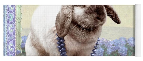 Bunny Wears Beads Yoga Mat