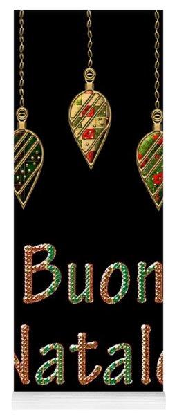 Buon Natale Italian Merry Christmas Yoga Mat