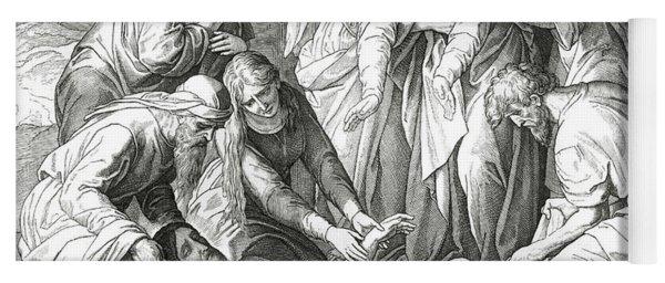 Burial Of Jesus, Scene From The Gospel Of John Yoga Mat