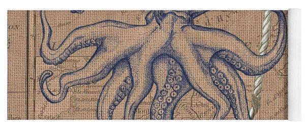 Burlap Octopus Yoga Mat
