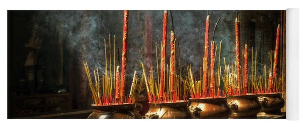 Burning Incense Yoga Mat