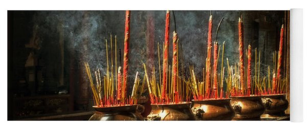 Burning Incense Yoga Mat