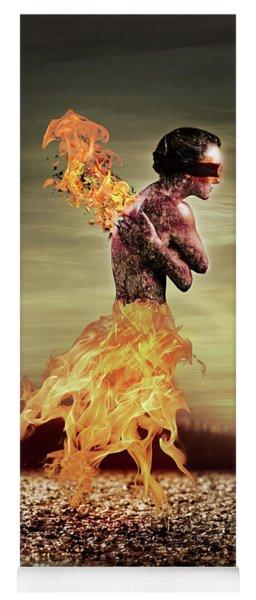 Burning Yoga Mat