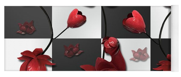 Burnt Crimson Flora Yoga Mat