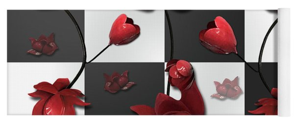 Yoga Mat featuring the photograph Burnt Crimson Flora by Rockin Docks Deluxephotos