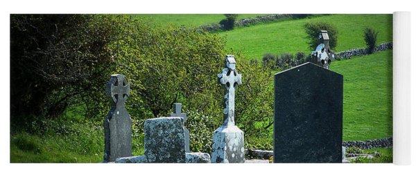 Burren Crosses County Clare Ireland Yoga Mat