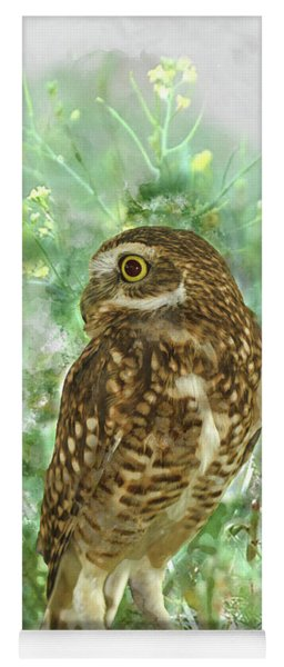 Burrowing Owl In Profile Yoga Mat