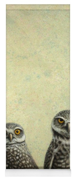 Yoga Mat featuring the painting Burrowing Owls by James W Johnson