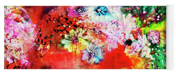 Burst Of Spring Flowers Yoga Mat