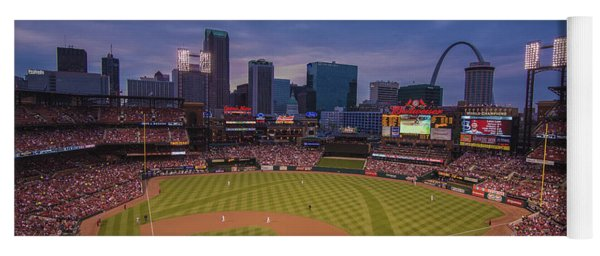 Busch Stadium St. Louis Cardinals Ball Park Village Twilight #3c Yoga Mat