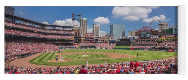 Busch Stadium St. Louis Cardinals Cardinal Nation Ballpark Village Day #2a Yoga Mat