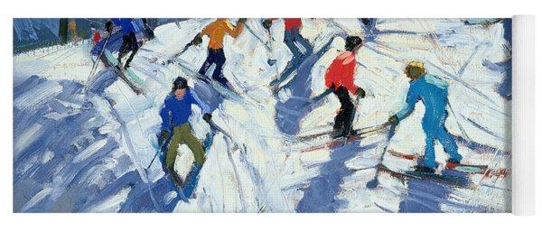 Busy Ski Slope Yoga Mat