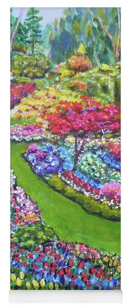 Yoga Mat featuring the painting Butchart Gardens by Amelie Simmons