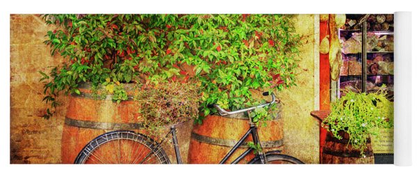 Yoga Mat featuring the photograph Butcher Shop Bicycle by Craig J Satterlee