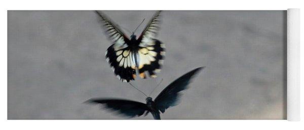 Butterflies At Wisley Gardens Surrey Yoga Mat