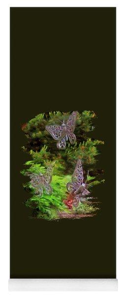 Yoga Mat featuring the photograph Butterflies by Thom Zehrfeld