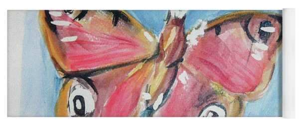 Yoga Mat featuring the painting Butterfly 3 by Loretta Nash