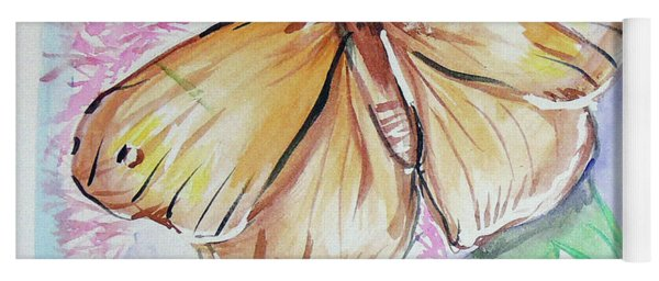 Yoga Mat featuring the painting Butterfly 5 by Loretta Nash