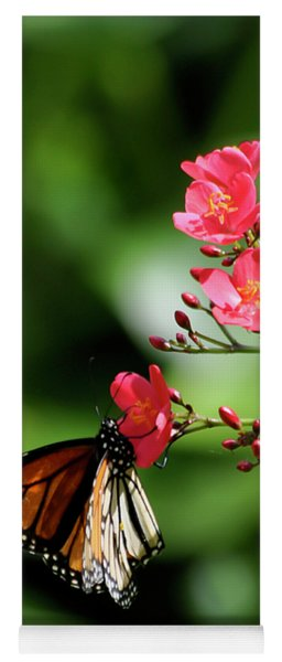Butterfly And Blossom Yoga Mat