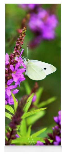 Yoga Mat featuring the photograph Butterfly And Bouquet by Christina Rollo