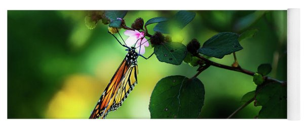 Butterfly And Flower Yoga Mat