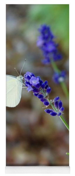 Butterfly And Lavender Yoga Mat