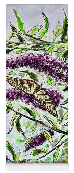 Butterfly Bush Yoga Mat
