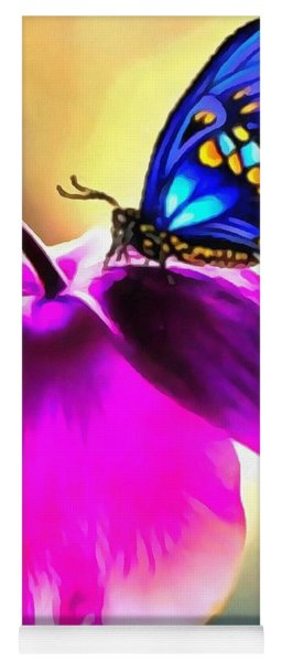 Butterfly Floral Yoga Mat