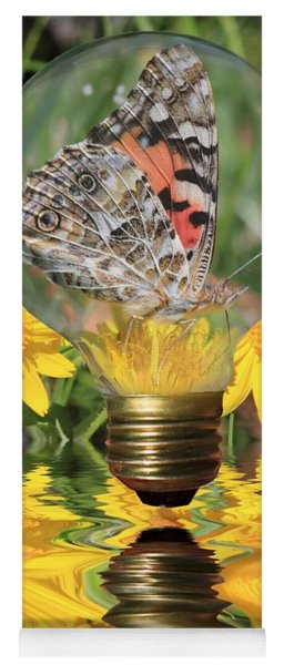 Butterfly In A Bulb II Yoga Mat