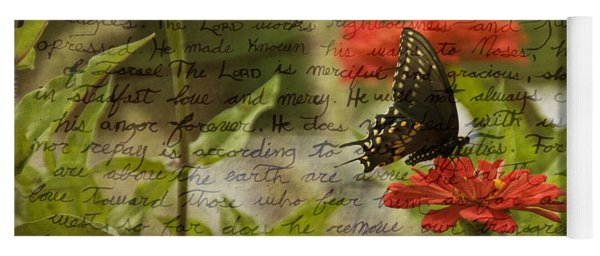 Butterfly Notes Yoga Mat