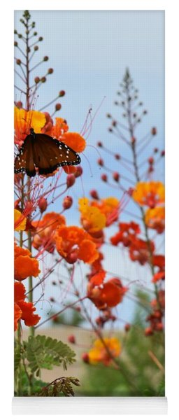 Butterfly On Bird Of Paradise Yoga Mat