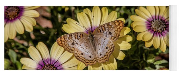 Butterfly On Blossoms Yoga Mat