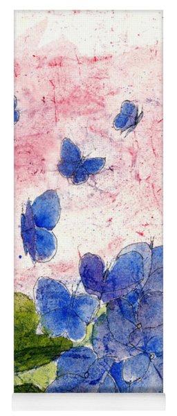 Butterflies Or Hydrangea Flower, You Decide Yoga Mat