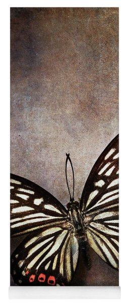 Butterfly Over Textured Background Yoga Mat