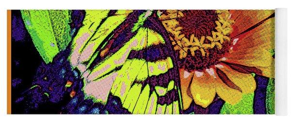 Butterfly Pop Art Yoga Mat