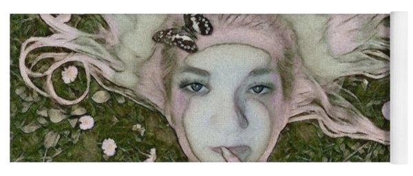 Butterfly Poster Girl Yoga Mat