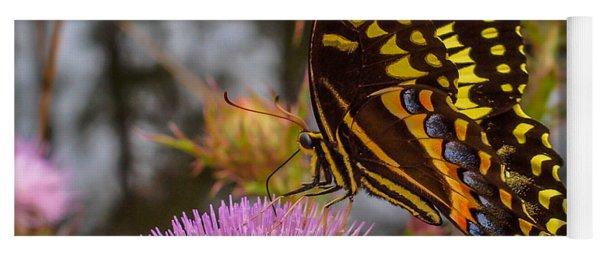Butterfly Visit Yoga Mat