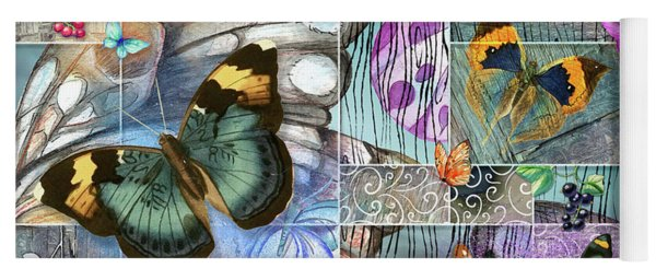 Butterfly Wings Collage Yoga Mat