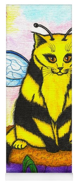 Buzz Bumble Bee Fairy Cat Yoga Mat