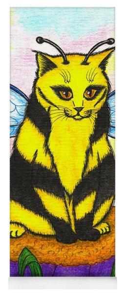Buzz Bumble Bee Fairy Cat Yoga Mat