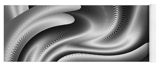 Yoga Mat featuring the digital art Bw Art 7 by Visual Artist Frank Bonilla