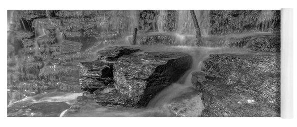 Bw Rock Wall Waterfall Yoga Mat