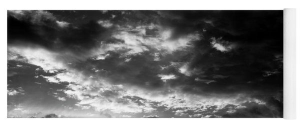 Yoga Mat featuring the photograph Bw Sky by Eric Christopher Jackson