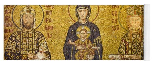 Byzantine Mosaic In Hagia Sophia Yoga Mat